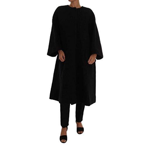 Dolce & Gabbana Black Floral Wool Jacket Coat