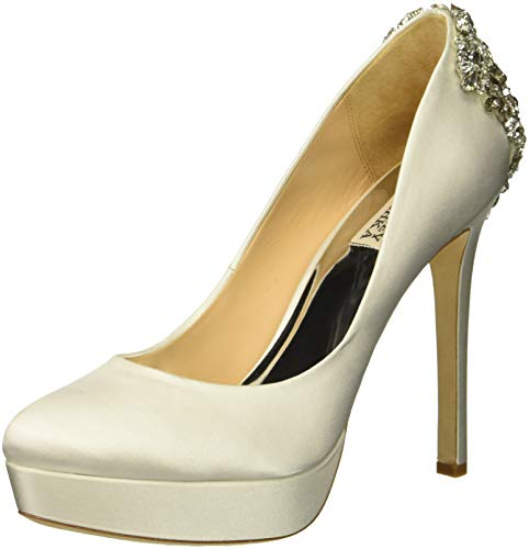 Badgley Mischka Women's Viola Pump, Soft White Satin