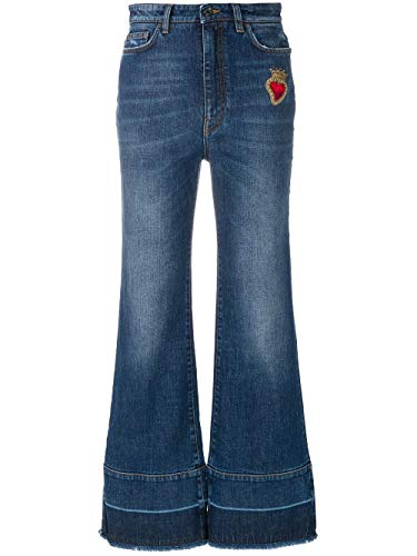Dolce e Gabbana Women's Blue Cotton Jeans