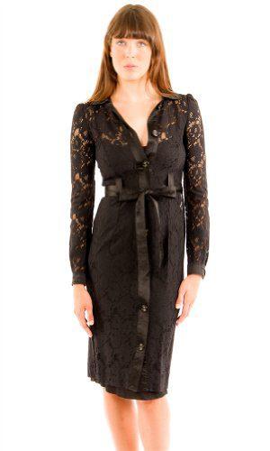 Dolce & Gabbana D&G Womens Knee Length Dress Black Silk