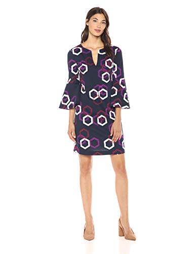 Trina Trina Turk Women's Pali Bell Sleeve Dress