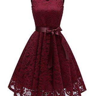 MILANO BRIDE Women's Vintage Style Floral Lace
