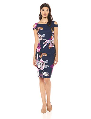 Trina Trina Turk Women's Adley Boatneck Midi Dress