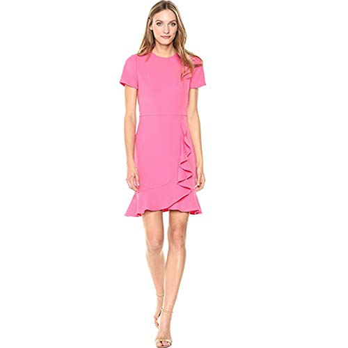 Shoshanna Women's Airi Short-Sleeve Cascading Ruffle Dress