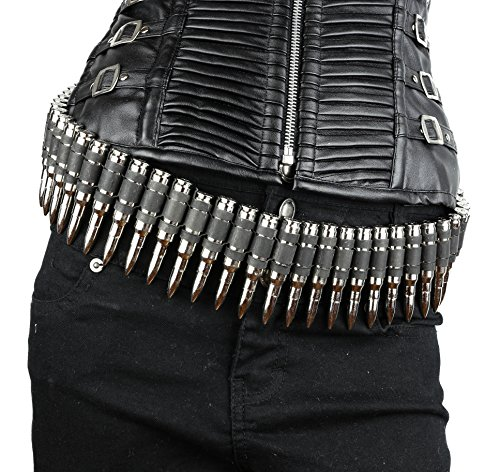 Real Bullet Belt Caliber Nickel Shell M16 Dark Link