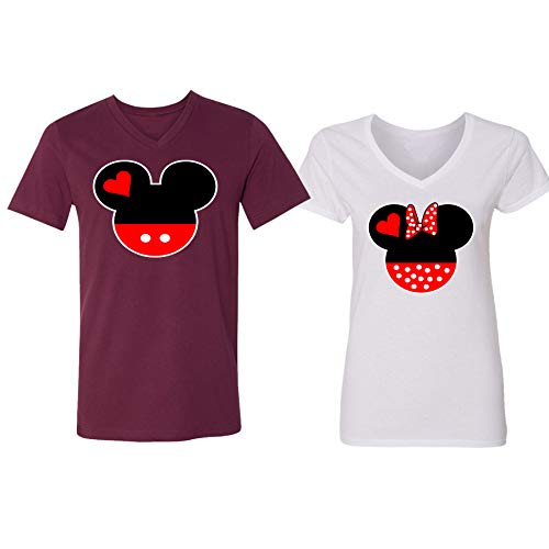 Disney Mickey Minnie Mouse Head Family Couple Design