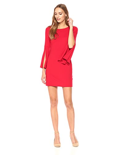Susana Monaco Women's Arabella Long Sleeve Flare Cuffed Dress