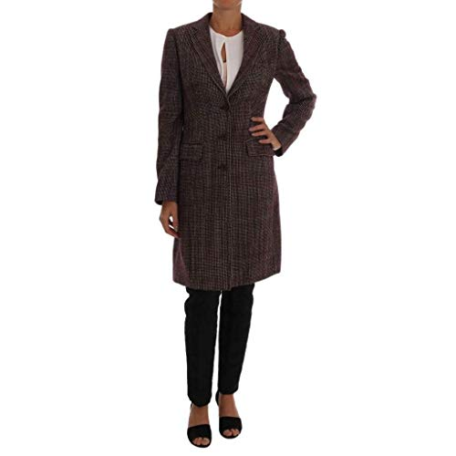 Dolce & Gabbana Bordeaux Wool Classic Tweed Coat