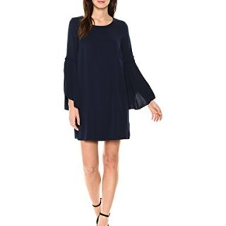 Michael Stars Women's Rylie Rayon Cascading Sleeve Dress