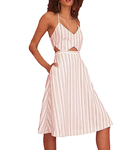 StyleStalker Alivia Midi Dress in Alivia Stripe (Extra Small)