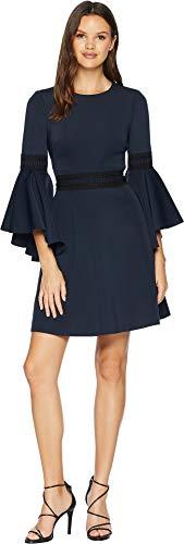 Badgley Mischka Women's Fit and Flare Dress Navy 4