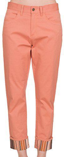 Gucci Women's Pink Cotton Striped Rolled Up Boyfriend Jeans