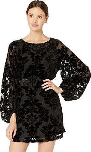 Yumi Kim Women's Bellflower Dress Black Burnout Velvet