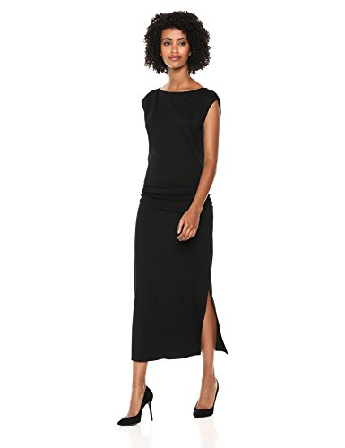 Theory Women's Cap Sleeve Minimal Ruched Sheath Dress