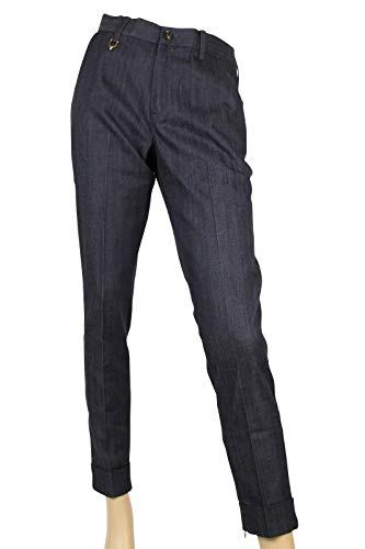 Gucci Stirrup Detail Blue/Gray Cotton Elastane Skinny Pants