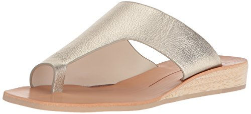 Dolce Vita Women's HAZLE Slide Sandal LT Gold Leather 6 M US
