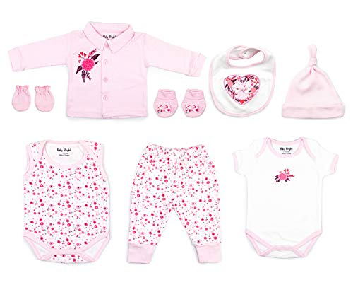 Baby Bright Newborn Clothes Set for Girl 0 to 3 Months 8 pcs Set
