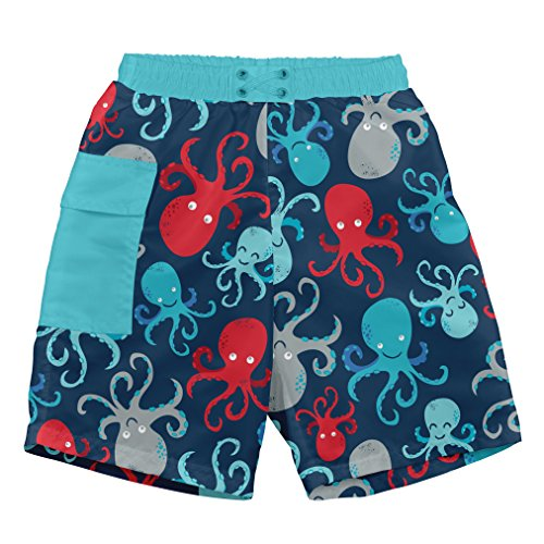 i play. Toddler Boys Pocket Trunks w/Built-in Reusable Absorbent Swim Diaper