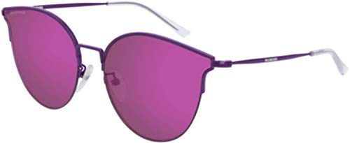 Balenciaga Sunglasses 002 Violet/Violet Mirror(Double) Lens