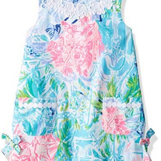 Lilly Pulitzer Girls Little Lilly Classic Shift, Multi Bohemian Queen