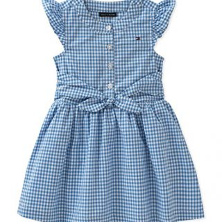 Tommy Hilfiger Baby Girls Dress, Blue 18M