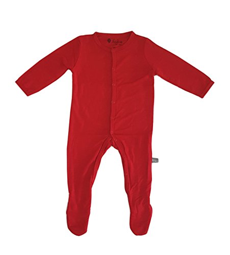 Kyte BABY Solid Footies (6-12 Months, Crimson)