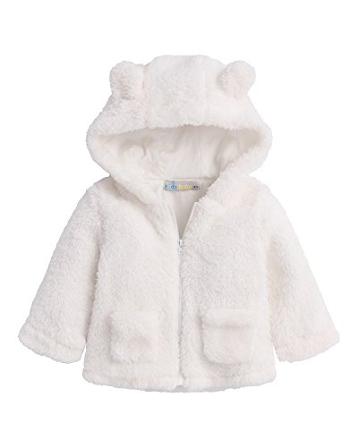 Kidsform Baby Girls Boys Fleece Hoodie Jacket Coat