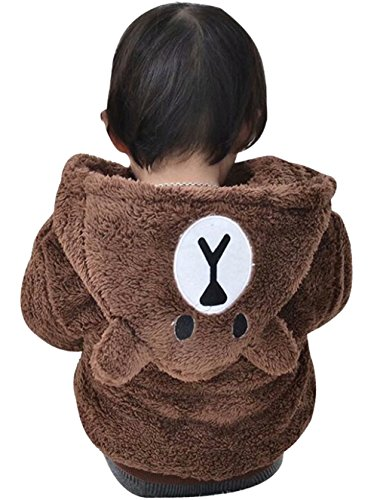 LOTUCY Baby Boys Girls Warm Fleece Hoodie Winter Warm Coat
