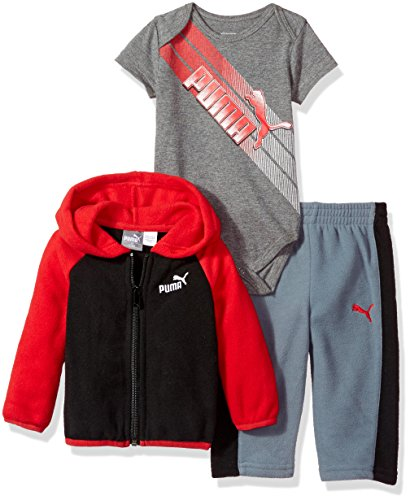 PUMA Baby Boys' Three Piece Hoodie Creeper Set