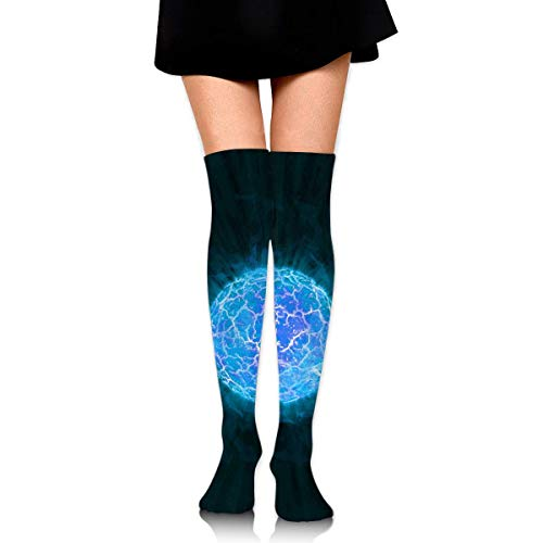 Kyliel Over the Knee Thigh High Socks,Universe Print High Boot