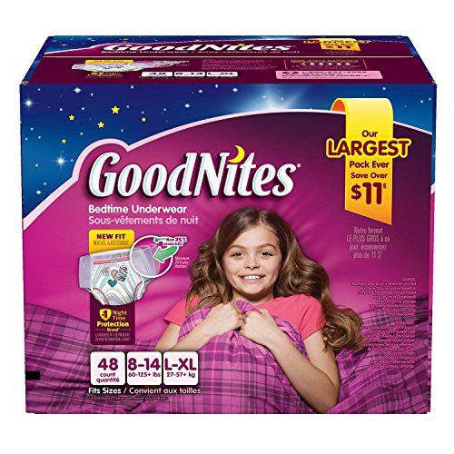 Goodnites Bedtime Underwear Girls, Size L-XL