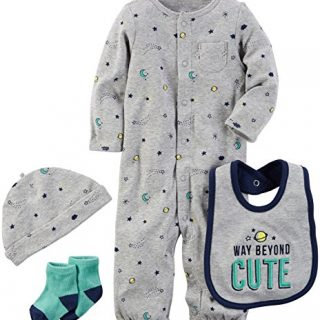 Carter's Baby Boys' Multi-pc Sets 126g628, Heather, 9 Months