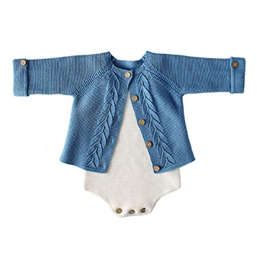 Baby boy Blue Sweater and Romper Set (12-18 Months)