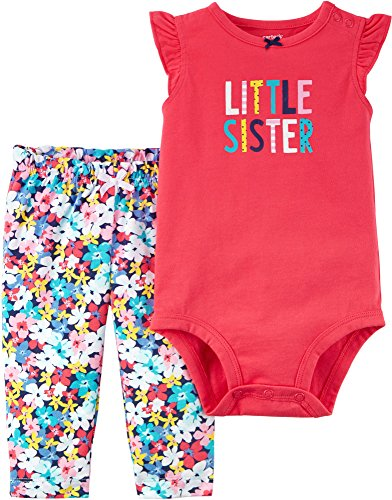 Carter's Baby Girls' 2 Piece Bodysuit Pant Set 6 Months