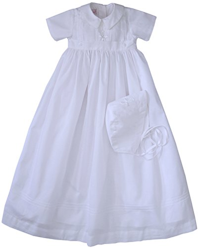 Infant Boys Christening Baptism Gown with Hand Embroidered