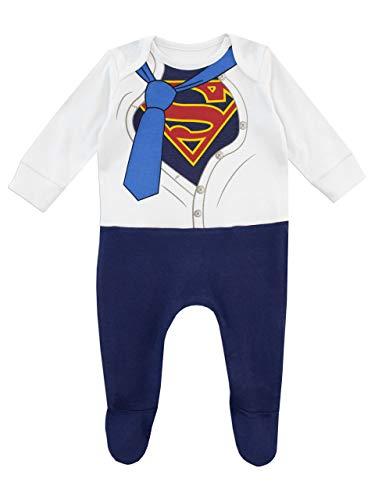 DC Comics Baby Boys' Superman Footies Size 6-9M Blue