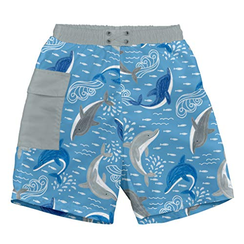 i play. Baby Boys Pocket Trunks with Built-in Reusable Absorbent Swim Diaper