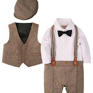 ZOEREA Baby Boy Outfits Set, 3pcs Long Sleeves