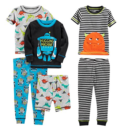 Simple Joys by Carter's Baby Boys' 6-Piece Snug Fit Cotton Pajama Set