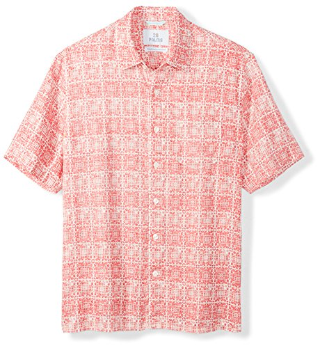 Palms Men's Relaxed-Fit 100% Linen Reverse Print Shirt