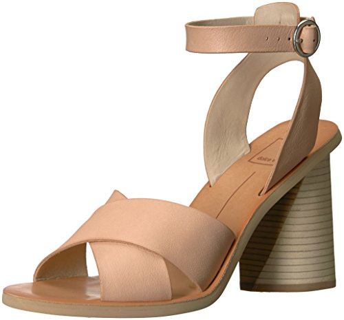 Dolce Vita Women's Athena Heeled Sandal, Natural Leather