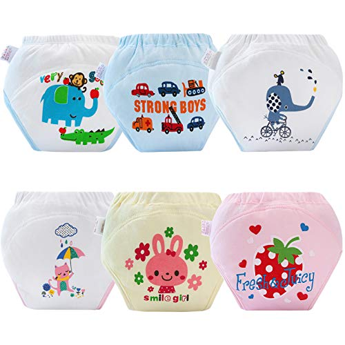 AUBIG 6 Pcs Training Diaper for Baby Boys Girls