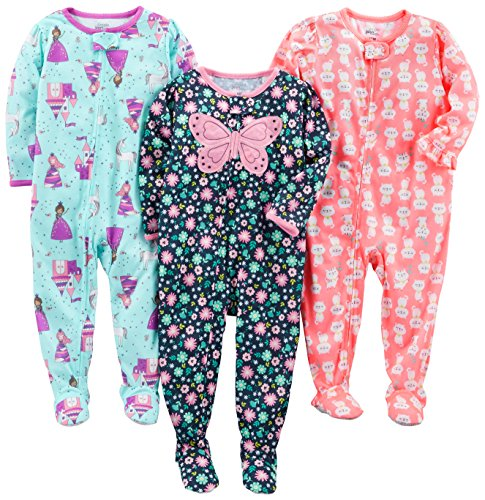 Simple Joys by Carter's Baby Girls' 3-Pack Loose Fit Flame Resistant