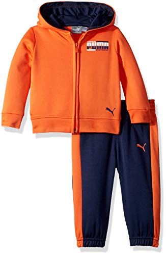 PUMA Baby Boys' Fleece Zip Up Hoodie Set