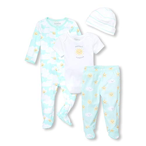 The Children's Place Baby 4 Pack Novelty Printed Pajama Layette Set