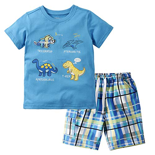 Gorboig Baby Boys Summer Outfits Sleeveless Top Shirt + Shorts Clothes Set