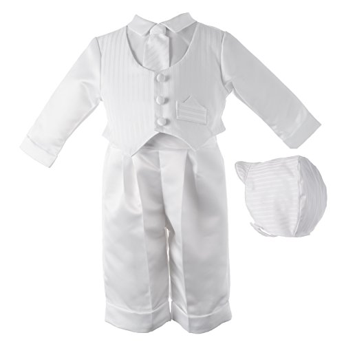 Lauren Madison baby boy Christening Baptism Infant Satin Vest Set
