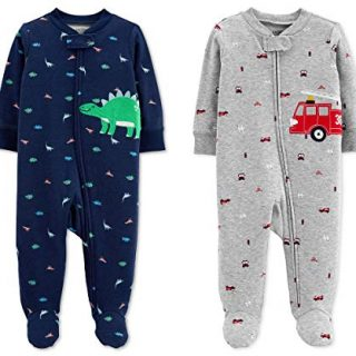 Carter's Baby Boys Footed Sleeper Cotton Sleep and Play Pajama