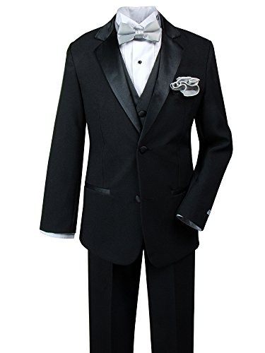 Spring Notion Big Boys' Tuxedo Set with Bow Tie
