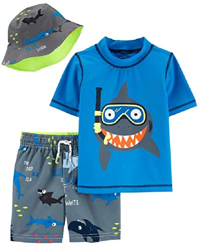Carter's Boys' Rashguard Sets (Colorful Shark, 3T)